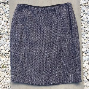 Brooks Brothers Blue/White Tweed Skirt Size 6P